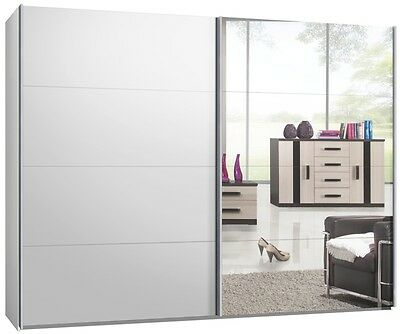 kleiderschrank schrank mit 2 glast ren auf rollen eur 50 00 picclick de. Black Bedroom Furniture Sets. Home Design Ideas