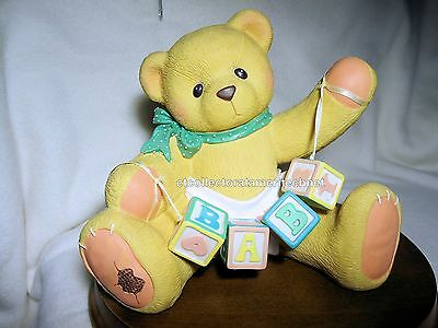 Cherished Teddies Bank - Baby Bear w Blocks 1997  Used In Box