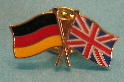 Lapel Pin Germany Deutschland England United Kingdom Crossed Flags