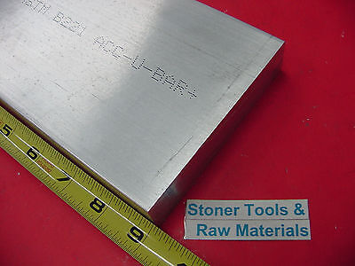 "2"" X 5"" ALUMINUM 6061 FLAT BAR 9"" long SOLID T6511 2.00"" Plate New Mill Stock"
