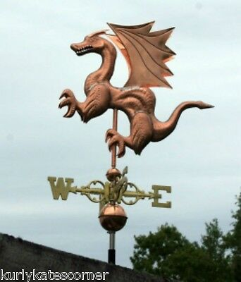 "Copper   "" Mystical Dragon "" Weathervane  Made In Usa #109S"