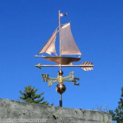 "Copper   "" Sailboat "" Weathervane  Made In Usa #220"