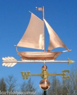"Copper   "" Sailboat "" Weathervane  Made In Usa #400"