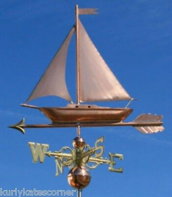 "Copper   "" Fancy Sailboat "" Weathervane  Made In Usa #473S"