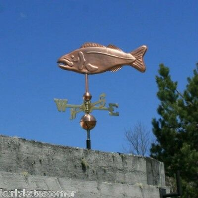 "Copper   "" Fish "" Weathervane  Made In Usa #192"