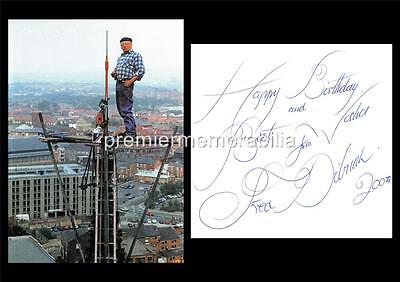 Steeplejack / Tv Personality Fred Dibnah Signed (Printed) Happy Birthday Print