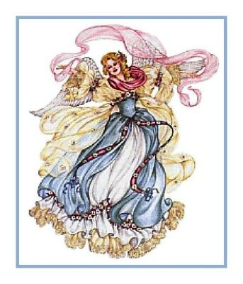 Vintage Victorian Christmas Angel  # 40  Counted Cross Stitch Chart Graph