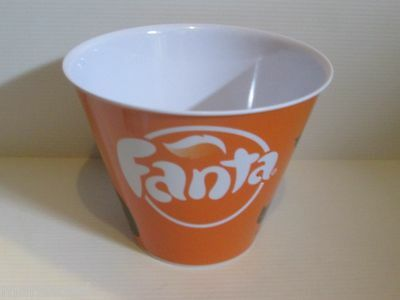 Fanta Orange Soda Halloween Melamine Treat Snack Bowl Ice Bucket Coca Cola Brand