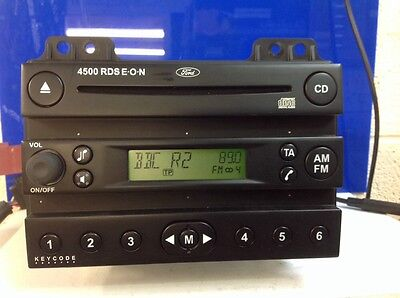 FORD CAR STEREO RADIO CD PLAYER 6000CD RDS EON HEAD UNIT WITH CODE