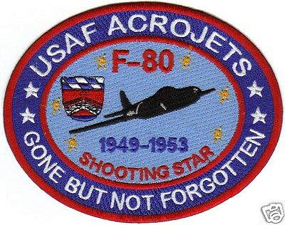 USAF ACROJETS, F-80 SHOOTING STAR, 1949-53, GONE BUT NOT FORGOTTEN             Y