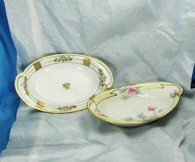 Pair of Early Hand Decorated Nippon Tableware Side Dishes