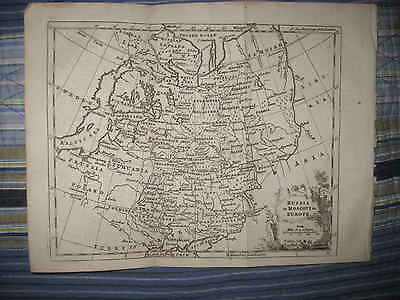 Mint Antique 1772 Russia Moscovy In Europe Cossack Ukraine Copperplate Map Nr