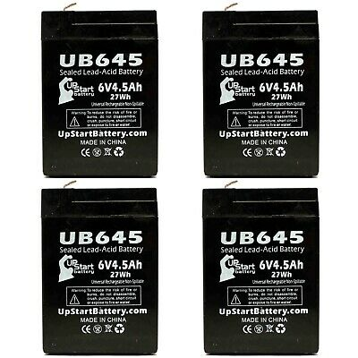 Mighty Max Battery 6V 4.5Ah Unison Battery DP1000 Battery 10 Pack Brand Product