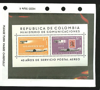 Colombia:SCADTA anniv. sheet PROOF (no control number!) MNH, scarce