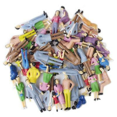 Pack Of 50 Model Train People Mixed Painted Figures Coloured Locomotive 1:30 New