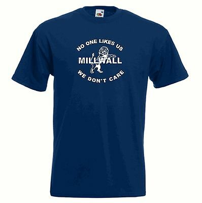 Millwall FC Nobody Likes Us Dundee Blue Navy Football T-Shirt - Sizes Sml to 6XL