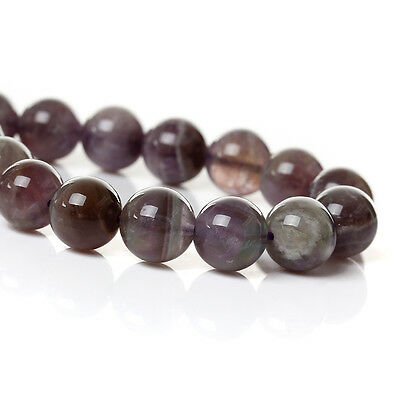 30 X ROUND (Grade A) Natural Amethyst Gemstone Beads 6 mm 38040