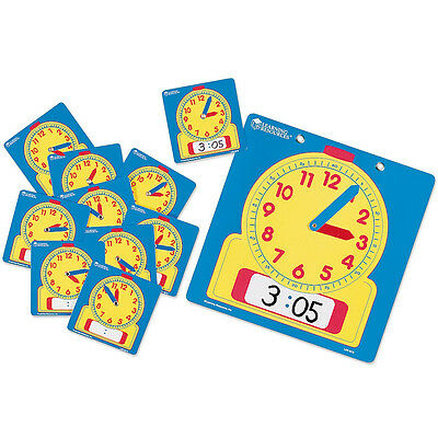 Learning Resources Write-On/Wipe-Off Clocks Classroom Set