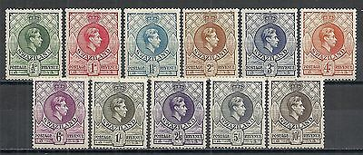 Swaziland stamps 1938 SG 28-38 P.13 1/2x13  MLH  F/VF