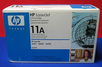 Hp Laserjet 11A Q6511A Print Cartridge,new In Unopened Box 2410,2420,2430