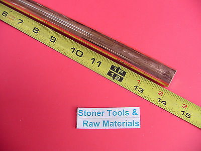 """5/8"""" C110 COPPER ROUND ROD 14"""" long H04 Solid .625"""" OD CU New Lathe Bar Stock"""