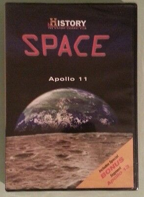 the history channel club  SPACE  APOLLO 11    DVD NEW