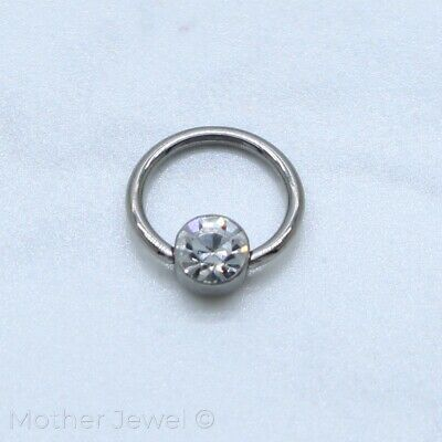 4Mm Jewel Cbr Bcr 18G 7Mm Ear Nose Eyebrow Lip Surgical Steel Captive Ring