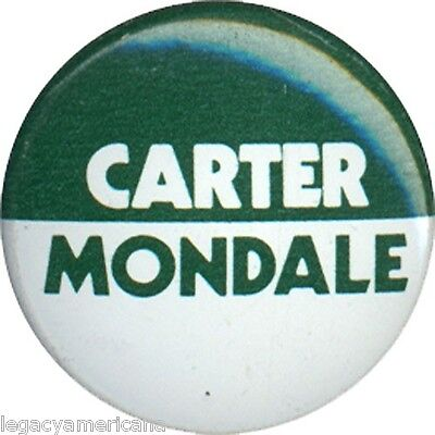 1976 Carter Mondale Unauthorized Campaign Logo Button (3937)