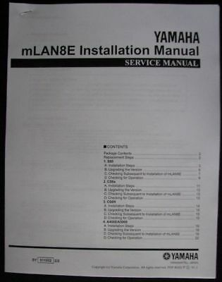 Yamaha mLAN8E Installation Manual Booklet for use with S80 CS6x CS6R A4000 A5000