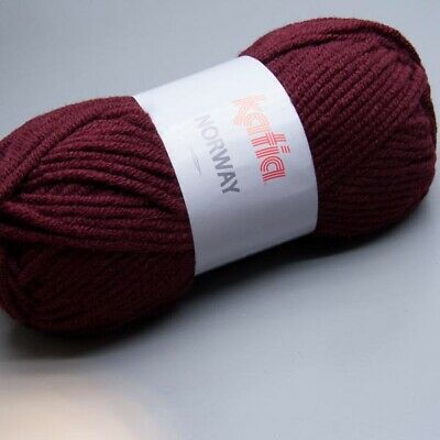 Katia Norway 019 red plum 100g Wolle (4.95 EUR pro 100 g)