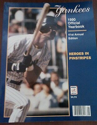 1a5a5737532431 Vintage Baseball 1990 NEW YORK YANKEES Yearbook DON MATTINGLY Cover RARE MLB