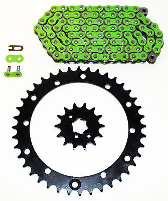 1989 - 2006 Yamaha YFZ350 Banshee Green Chain & Sprocket + POWER 13/41