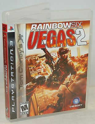 PS3 Tom Clancy's Rainbow Six Vegas 2 Video Game Multiplayer First Person Shooter
