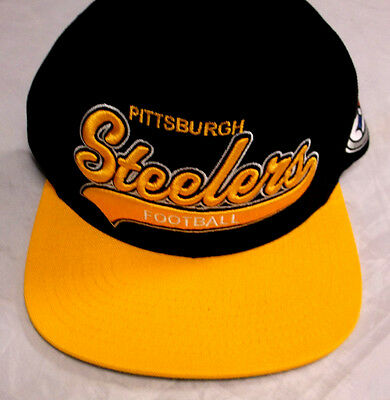 0f5176683f4 Pittsburgh Steelers Mitchell   Ness Snapback Adjustable Fit Cap Hat NEW