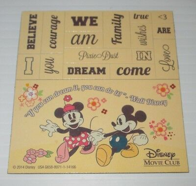 Disney Movie Club Dmc Exclusive Mickey Minnie Mouse Retro Vinyl Magnet  3.5""