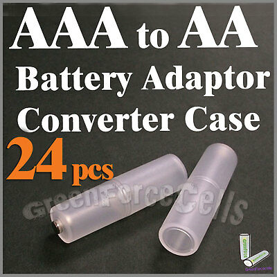 24 pcs Battery Converter Adaptor Case Holder Switcher For AAA to AA Size Cell 2A