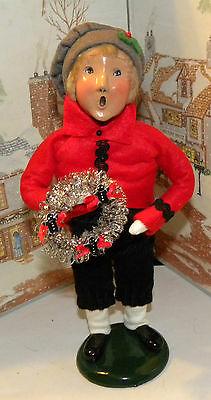 Byers Choice Caroler Victorian Boy with Silver Wreath 1993 75/100   *