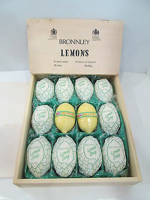 """CONFEZIONE SAPONI  LEMONS gr 85 X 12 """" BRONNLEY """"  MADE IN ENGLAND - NUOVI"""