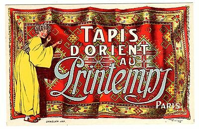 Postcard French Oriental Rugs From Au Printemps Signed Rene Vincent 1908