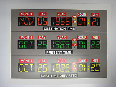 "Back to the Future  - 8.5"" x 11"" - Delorean Dashboard Poster Print - B2G1F"