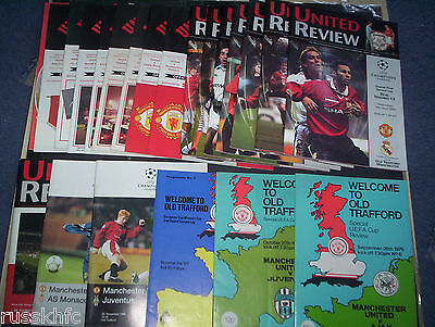 Man Utd In Europe Home Programmes 1976 To 2011 Choose From