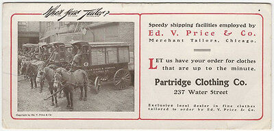 1910s Gardiner Maine Clothing Store Advertising Blotter for a Chicago Tailor