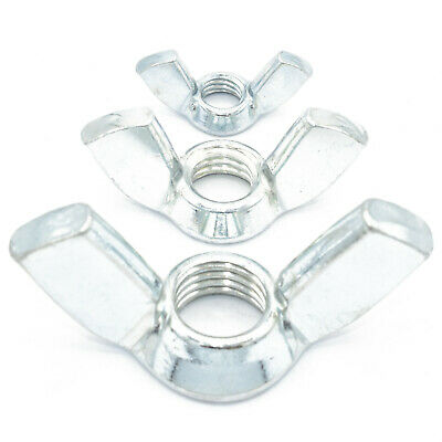 PACK OF 6 - M10 (10mm) BUTTERFLY WING NUTS - ZINC PLATED - TO FIT 10mm BOLTS