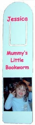 Personalised Aluminium Bookmark inc photo/message or name. Great for Adults/Kids