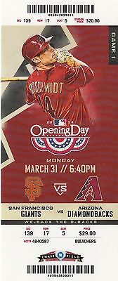 2014 Arizona Diamondbacks Pick Your Game Goldschmidt Ticket Stub Many Dates