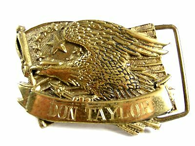 American Eagle Monogrammed Don Taylor Belt Buckle by Baron 62614