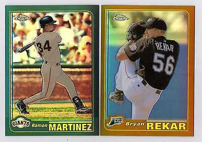 2001 Topps Chrome Green and Gold Retrofractor Lot (66 Different) - Pick Any 1