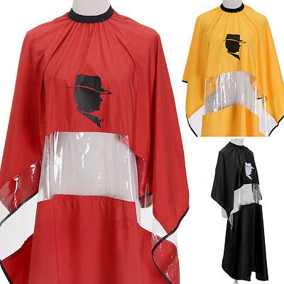 Hair Cape Gown Barbers PVC Transparent For Phone Cutting Salon Long Clothes Cord