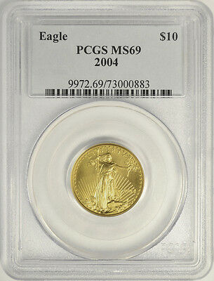 2004 $10 American Gold Eagle, 1/4 Oz., PCGS MS69