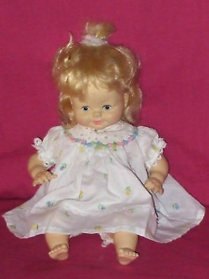 HORSEMAN DOLL- VINTAGE BATTERY OPERATED WITH BABY SOUNDS / BLONDE HAIR - ON/OFF